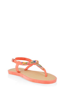 Girls 12-4 Pebbled Jelly Thong Sandals - 1737062720111