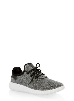 Girls 12-4 Lurex Athletic Sneakers - 1737062720117