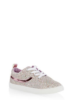 Girls 12-4 Glitter Lace Up Sneakers | 1737062720121 - 1737062720121