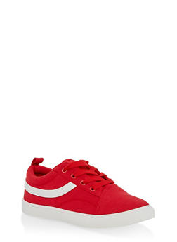 Girls 12-4 Canvas Lace Up Sneakers - 1737062720122