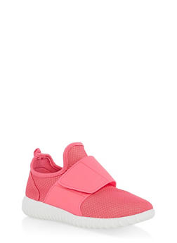 Girls 12-4 Mesh Velcro Strap Sneakers - 1737062720125