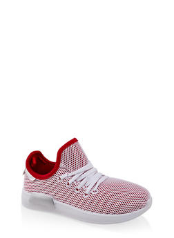 Girls 12-4 Mesh Lace Up Athletic Sneakers - 1737062720126