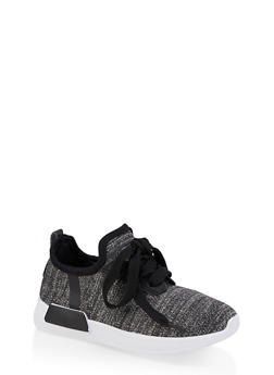 Girls 11-4 Shimmer Knit Sneakers | 1737062720128 - 1737062720128