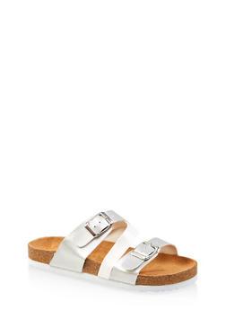 Girls 12-4 Triple Strap Footbed Sandals - 1737062720136