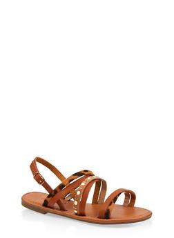 Girls 12-4 Multi Strap Sandals - 1737062720138