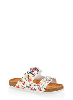 Girls 12-4 Floral Footbed Sandals - 1737062720157