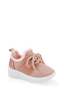 Pink Lace Up Shoes