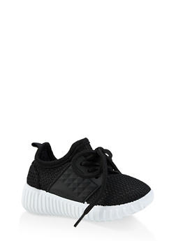 Girls 6-11 Solid Athletic Sneakers - 1737062720160