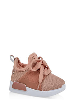 Girls 6-11 Lace Up Knit Sneakers - 1737062720163