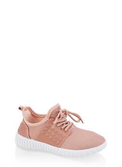 Girls 12-4 Knit Silicone Sneakers - 1737062720166