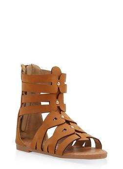 Girls 5-10 Studded Gladiator Sandals - 1737064790019
