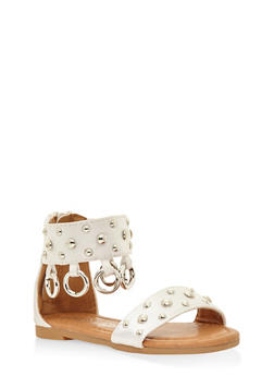 Girls 5-10 Studded Ankle Strap Sandals - 1737064790049