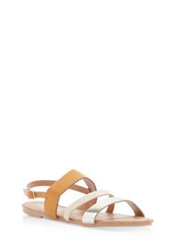 Girls 11-4 Strappy Sling Back Sandals - 1737064790050