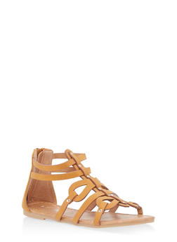Girls 11-4 Studded Gladiator Sandals - 1737064790057