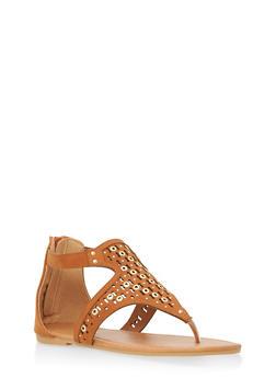Girls 11-4 Studded Thong Sandals - 1737064790061