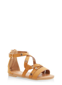 Girls 5-10 Studded Strappy Sandals - 1737064790067