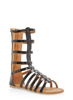 Girls 11-4 Tall Gladiator Sandals - 1737064790092
