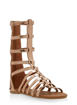 Girls 11-4 Tall Strappy Gladiator Sandals - 1737064790093