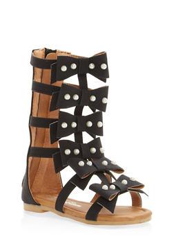 Girls 5-10 Bow Strap Gladiator Sandals - 1737064790103