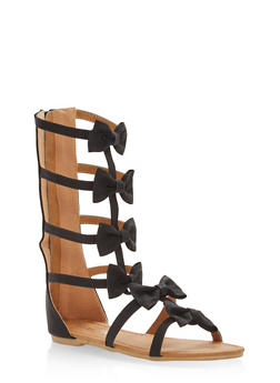 Girls 11-4 Bow Gladiator Sandals - 1737064790109
