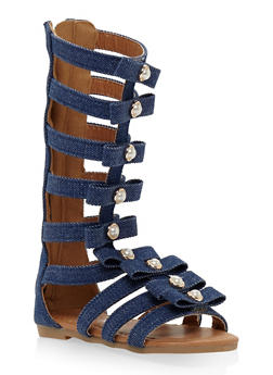 Girls 5-10 Faux Pearl Studded Gladiator Sandals - 1737064790118