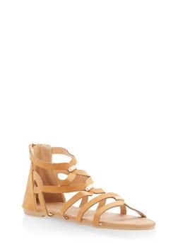 Girls 11-4 Metallic Studded Sandals - 1737064790141