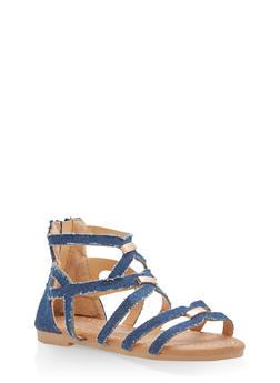 Girls 5-10 Strappy Gladiator Sandals - 1737064790147