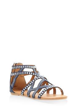 Girls 11-4 Studded Gladiator Sandals - 1737064790148