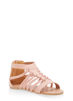 Girls 11-4 Knotted Strap Sandals - 1737064790150