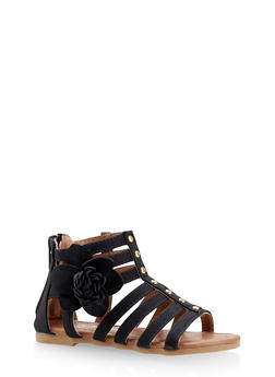 Girls 5-10 Flower Gladiator Sandals - 1737064790157