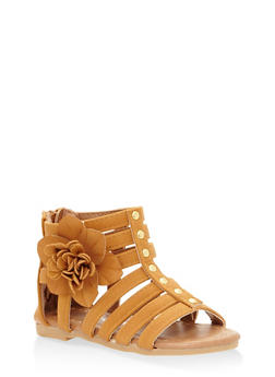 Girls 5-10 Flower Gladiator Sandals - 1737064790157