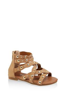 Girls 5-10 Studded Criss Cross Sandals - 1737064790175