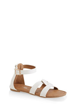 Girls 11-4 Interlocking Band Sandals - 1737064790177
