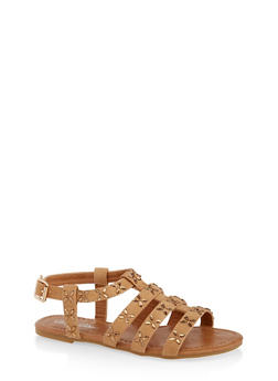 Girls 11-4 Jeweled Caged Sandals - 1737064790180