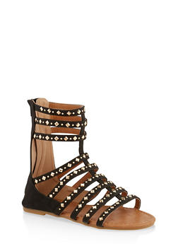 Girls 11-4 Studded Tall Gladiator Sandals | 1737064790183 - 1737064790183