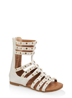Girls 5-10 Tall Studded Gladiator Sandals | 1737064790185 - 1737064790185