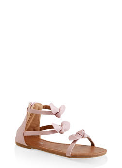 Girls 11-4 Strappy Bow Sandals - 1737064790192