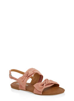 Girls 11-4 Bow Detail Sandals - 1737064790198