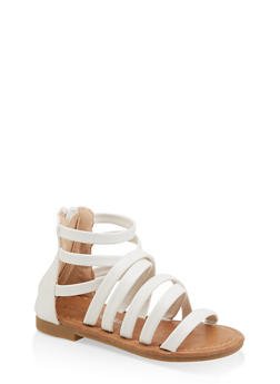 Girls 5-10 Strappy Faux Leather Sandals - 1737064790200