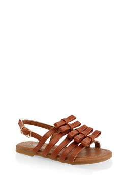 Girls 5-10 Bow Caged Sandals - 1737064790204