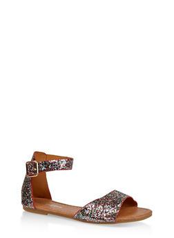 Girls 11-4 Glitter Ankle Strap Sandals - 1737064790206
