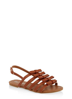 Girls 11-4 Bow Caged Sandals - 1737064790207