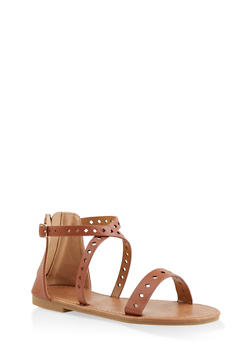 Girls 11-4 Diamond Laser Cut Sandals - 1737064790211