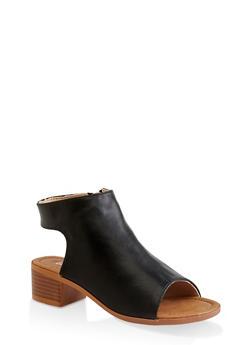 Girls 11-4 Cut Out Heel Booties - 1737064790214
