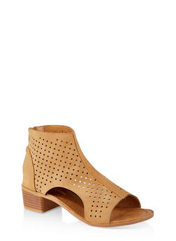 Girls 11-4 Perforated Cut Out Booties - 1737064790215