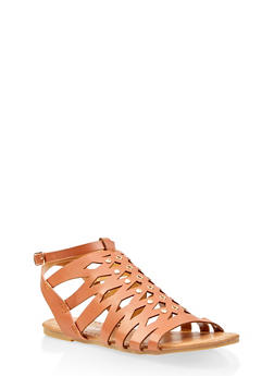 Girls 11-4 Studded Caged Sandals - 1737064790231