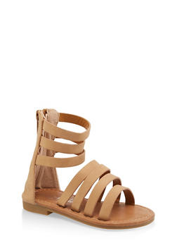 Girls 5-10 Tall Strappy Sandals - 1737064790238
