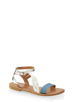 f6ba6b1512c Girls 11-4 Cross Ankle Strap Sandals - Multi - Size 3 - 1737064790246