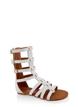 Girls 11-4 Tall Buckle Gladiator Sandals - 1737064790248