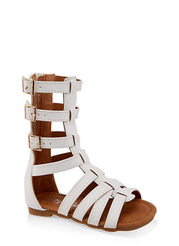 Girls 5-10 Tall Buckle Gladiator Sandals - 1737064790250